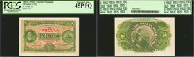ANGOLA. Banco Nacional Ultramarino. 1 Escudo, 1921. P-55. PCGS Currency Extremely Fine 45 PPQ.