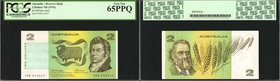 AUSTRALIA. Reserve Bank. 2 Dollars, ND (1974-85). P-43b2. PCGS Currency Gem New 65 PPQ.