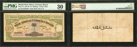BRITISH WEST AFRICA. Currency Board of British West Africa. 10/- Shillings, 1937-48. P-7b. PMG Very Fine 30.