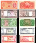 CAPE VERDE. Mixed Banks. 20 to 1000 Escudos, 1958-77. P-47, 49, 54, 55, 56. About Uncirculated to Uncirculated.