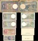 CEYLON. Government of Ceylon. 10 & 50 Cents, 1 & 10 Rupees, Mixed Dates. P-34, 36A, 43a, 45a. Fine to About Uncirculated.