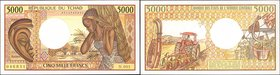 CHAD. Banque des Etats de l'Afrique Centrale. 5000 Francs, ND (1984-91). P-11. Uncirculated.