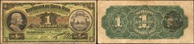 COSTA RICA. Republica de Costa Rica. 1 Colon, 1914. P-143. Fine.