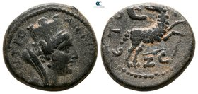 Seleucis and Pieria. Antioch. Pseudo-autonomous issue AD 158-159. Dichalkon Æ