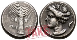 "The Carthaginians in Sicily and North Africa.  circa 410-390 BC. SOLD AS SEEN; MODERN REPLICA / NO RETURN !. Electrotype ""Tetradrachm"". Fantasy issue"