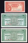 Czechoslovakia Lot of 3 Banknotes With SPECIMEN