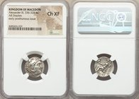 MACEDONIAN KINGDOM. Alexander III the Great (336-323 BC) AR drachm (18mm, 2h). NGC Choice XF. Posthumous issue of Teos, ca. 310-301 BC. Head of Heracl...