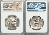 THRACE. Mesambria. Ca. 175-125 BC. AR tetradrachm (32mm, 16.68 gm, 12h). NGC Choice AU 5/5 - 3/5. Late posthumous issue in the name and types of Alexa...