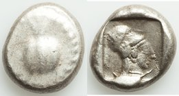 PAMPHYLIA. Side. Ca. 5th century BC. AR stater (20mm, 10.99 gm, 5h). Fine. Ca. 430-400 BC. Pomegranate, guilloche beaded border / Head of Athena right...