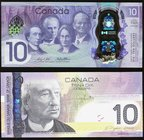 Canada Bank of Canada $10 2005; 2017 BC-68a; BC-75 Two Examples Choice About Uncirculated; Crisp Uncirculated. Two fancy serial number examples.  HID0...