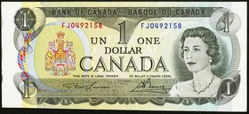 Cut of Size Error Canada Bank of Canada $1 1973 BC-46a Very Fine-Extremely Fine.   HID09801242017