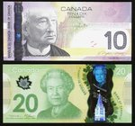 Canada Bank of Canada $10; $20 2005; 2012 BC-68a; BC-71a-i Two Examples Choice Crisp Uncirculated. Both examples with 3 digit radar serial numbers.  H...