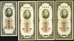 A Selection of Eleven Customs Gold Unit Notes from the Central Bank of China. Very Fine or Better.   HID09801242017