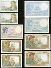 Thirteen Notes from France Issued from the 1920s Through the 1940s. Fine or Better.   HID09801242017
