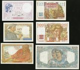 Six Notes from France Issued During the 1930s and 1940s. Fine or Better.   HID09801242017