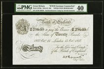 Great Britain Bank of England 20 Pounds 15.10.1937 Pick 337Ba PMG Extremely Fine 40. Small tear.  HID09801242017