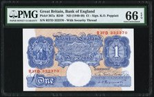 Great Britain Bank of England 1 Pound ND (1940-48) Pick 367a PMG Gem Uncirculated 66 EPQ.   HID09801242017