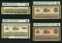 Ireland National Bank Limited Lot Of Four Complete And Incomplete Proofs. 50 Pounds 25.4.1876 Pick A56A50p PMG About Uncirculated 55; previously mount...