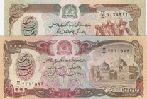 Afghanistan, 500 Afganis and 1000 Afganis, 1979/ 1979, UNC, p59/ p61a, (Total 2 Banknotes)