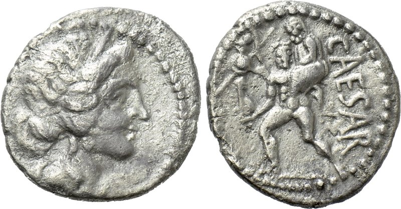 JULIUS CAESAR. Denarius (48-47 BC). Military mint traveling with Caesar in North...