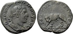PHILIP I THE ARAB (244-249). Sestertius. Rome. Saecular Games/1000th Anniversary of Rome issue.