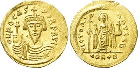 PHOCAS (602-610). GOLD Solidus. Constantinople.