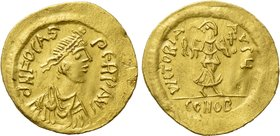 PHOCAS (602-610). GOLD Semissis. Constantinople.