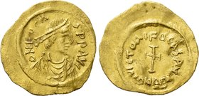 PHOCAS (602-610). GOLD Tremissis. Constantinople.