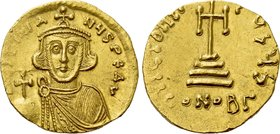 JUSTINIAN II (First reign, 685-695). GOLD Solidus. Constantinople.