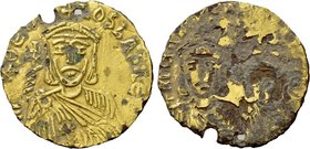 THEOPHILUS with CONSTANTINE and MICHAEL II (829-842). Fourrée Solidus. Constantinople.
