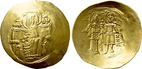 ISAAC II ANGELUS (First reign, 1185-1195). GOLD Hyperpyron. Constantinople.
