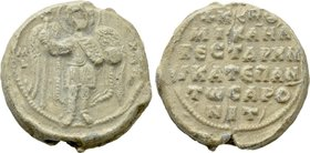 BYZANTINE LEAD SEALS. Michael, vestarches and katepano of ... (Circa 10th-11th centuries).