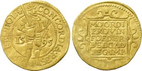 NETHERLANDS. Holland. GOLD Ducat (1595).