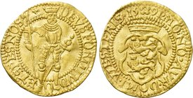 NETHERLANDS. Westfriesland. GOLD Ducat (1591). Hungarian type.