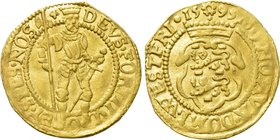 NETHERLANDS. Westfriesland. GOLD Ducat (1595). Hungarian type.