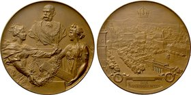 AUSTRIA. Franz Josef I (1848-1916). Bronze Medal (1898). Commemorating his 50th year of reign.