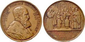 GERMANY. Saxony. Friedrich August II (1836-1854). Bronze Medal (1839). The 300th anniversary of the Reformation in Dresden.