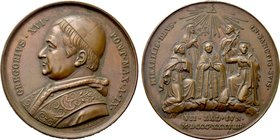 ITALY. Papal. Gregory XVI (1831-1846). Bronze Medal (Year 9 - 1839). By Girometti.