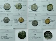 5 Ancient Coins.
