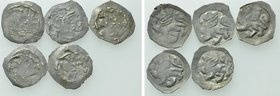 5 German Medieval Coins.