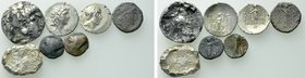 7 Greek Coins .