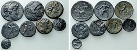 8 Greek Coins; Including Staters and Tetradarchms.
