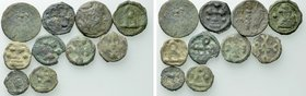 10 Ancient Coins; Mostly Byzantine Coins of Chersonesos.
