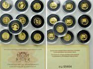 10 GOLD Coins of Bulgaria.