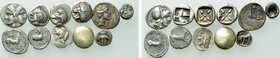 11 Greek Coins; Including Electrum.