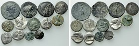13 Greek Coins.
