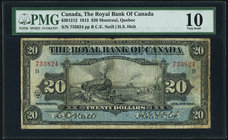 Canada Royal Bank of Canada $20 2.1.1913 Ch.# 630-12-12 PMG Very Good 10.   HID09801242017