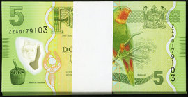 Fiji Reserve Bank of Fiji 5 Dollars ND (2013) Pick 115 Pack of 100 with Replacements Gem Crisp Uncirculated.   HID09801242017