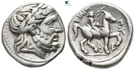 Macedon. Amphipolis. Kassander 306-297 BC. As regent, 317-305 BC. In the name and types of Philip II. Struck circa 316-311 BC. Tetradrachm AR
