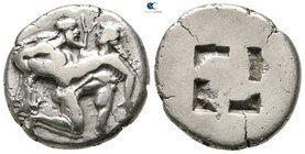 Islands off Thrace. Thasos circa 500-480 BC. Stater AR
